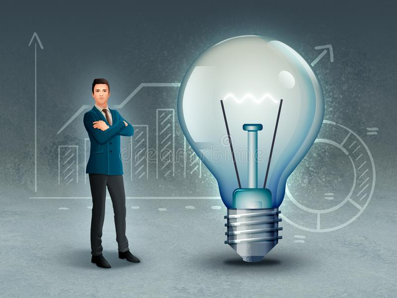 Créativité et innovation d'affaires photo stock