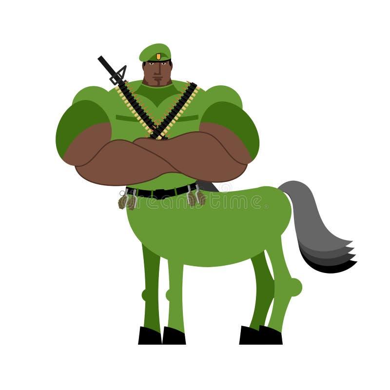 Créature de conte de fées de soldat de centaure de guerrier Cheval de militaire i illustration libre de droits
