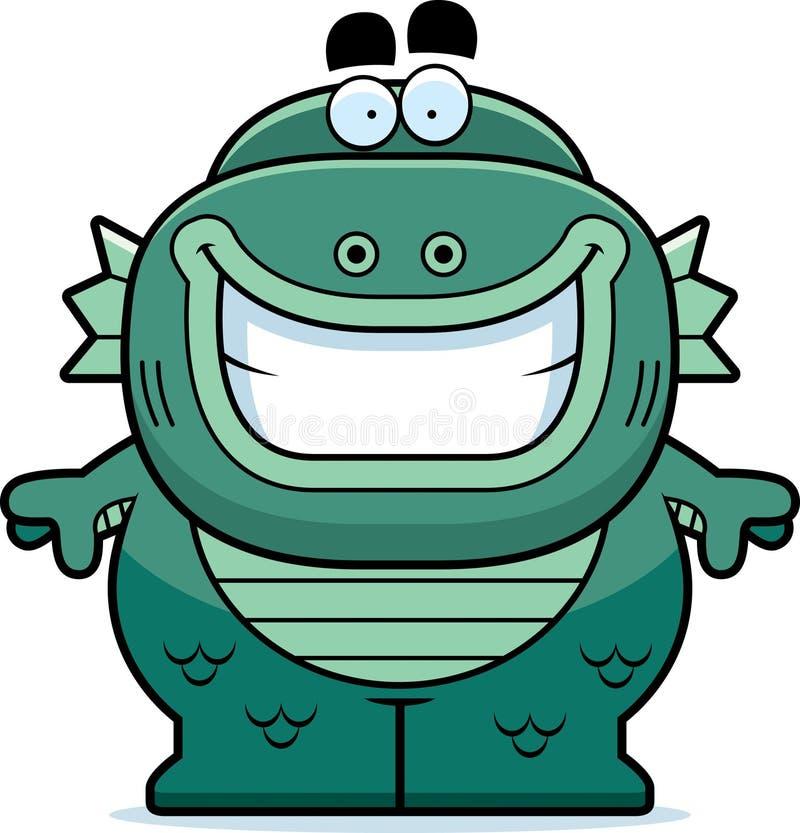 Créature de sourire de bande dessinée illustration libre de droits