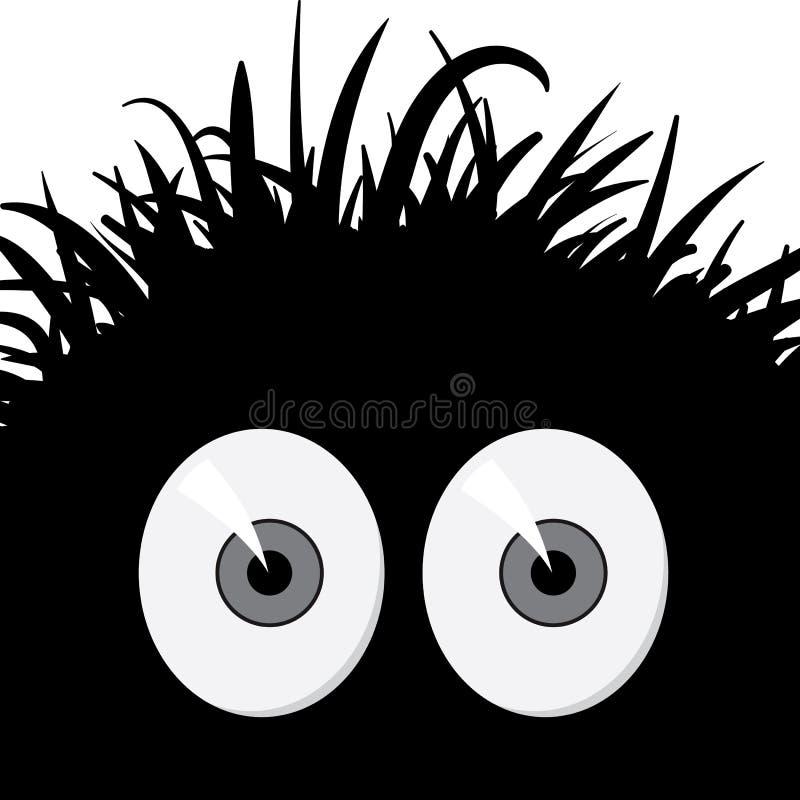 Créature effrayée comique - illustration de vecteur illustration libre de droits