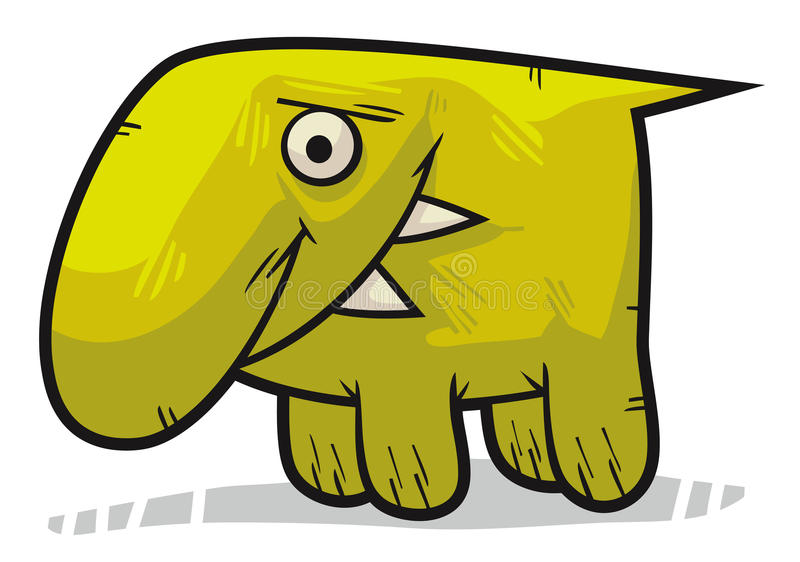 Créature mignonne verte illustration stock
