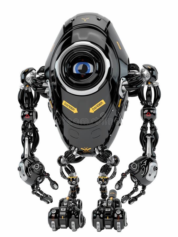 Créature robotique illustration stock