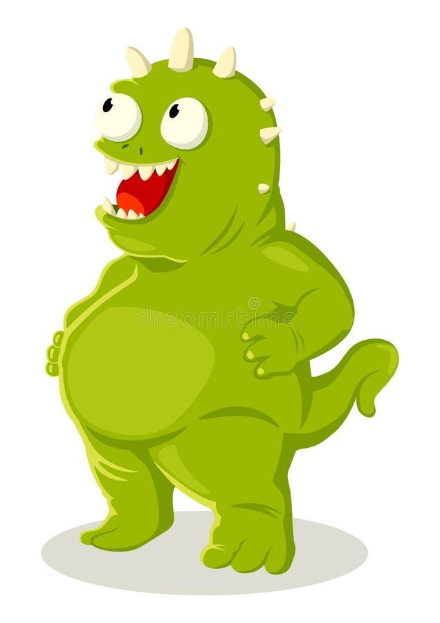 Créature verte illustration libre de droits