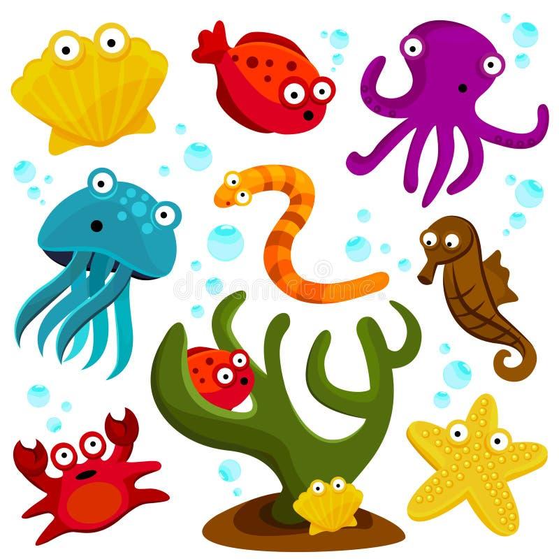 Créatures de mer illustration libre de droits