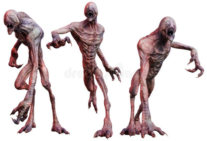 Créatures de zombi illustration libre de droits