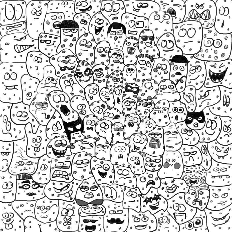 Download Créatures Drôles De Caricature, Microbes, Bacteriums Illustration Stock - Illustration du ensemble, beaucoup: 45352326
