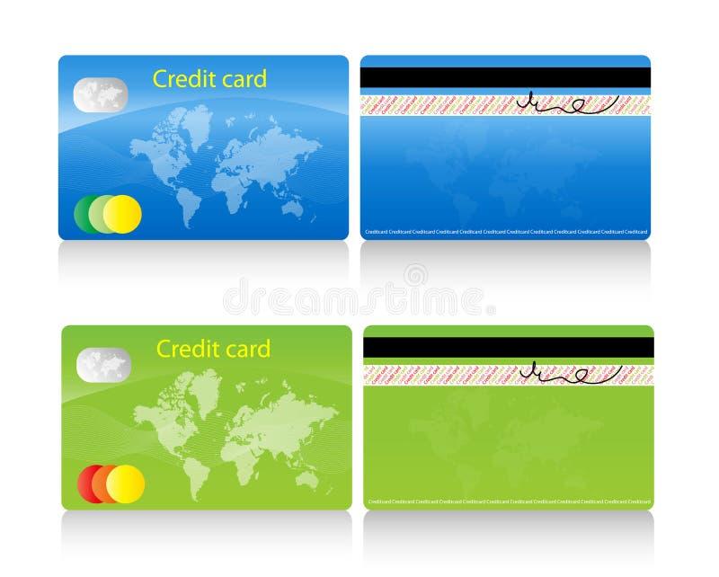 crédit de carte illustration stock
