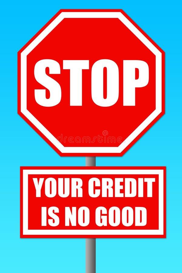 Crédito ilustração stock