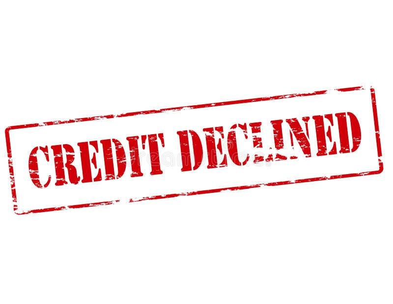 Crédito declinado ilustração royalty free