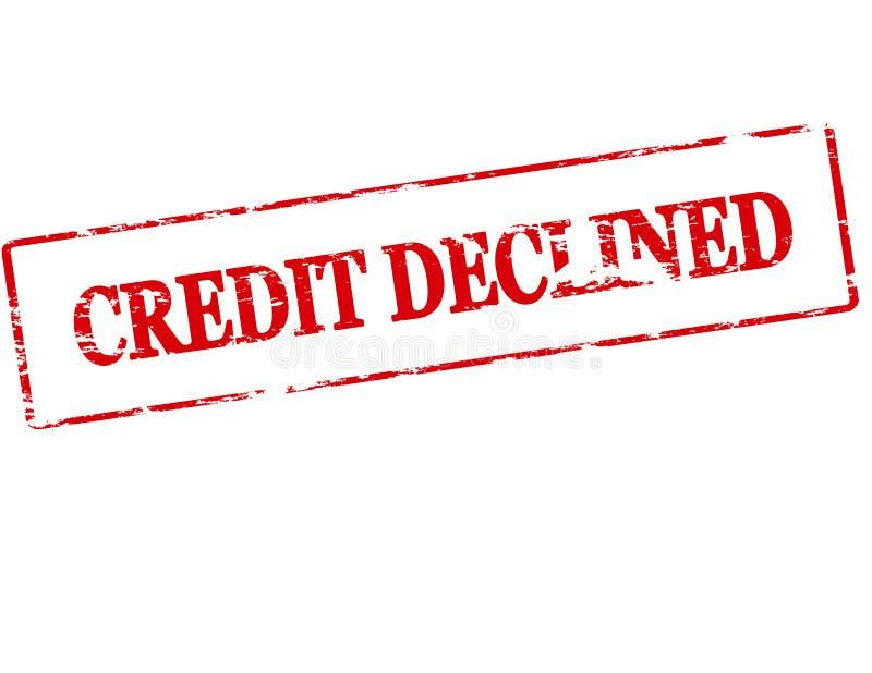 Crédito declinado ilustração stock
