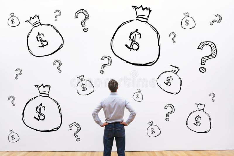 Crédito, inversión o concepto financiero fundraising, dinero foto de archivo