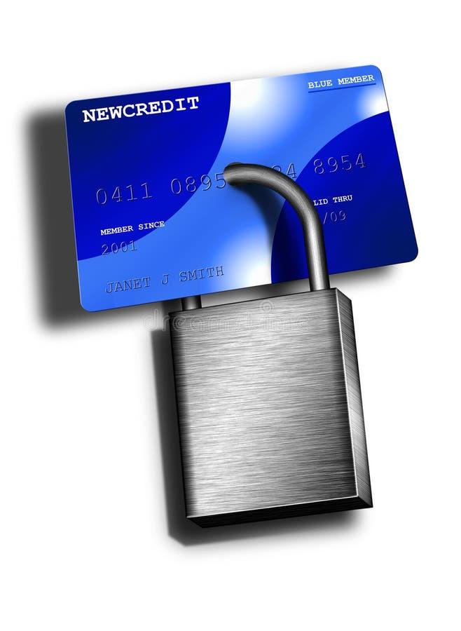 Crédito protegido ou negado ilustração stock