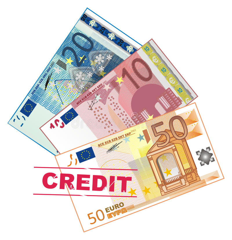 Crédito y efectivo libre illustration