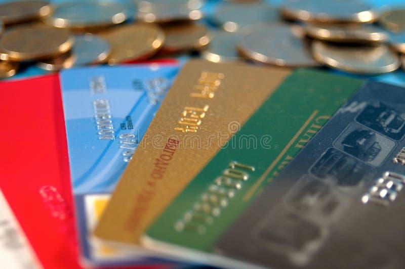 Créditos e dinheiro fotografia de stock royalty free