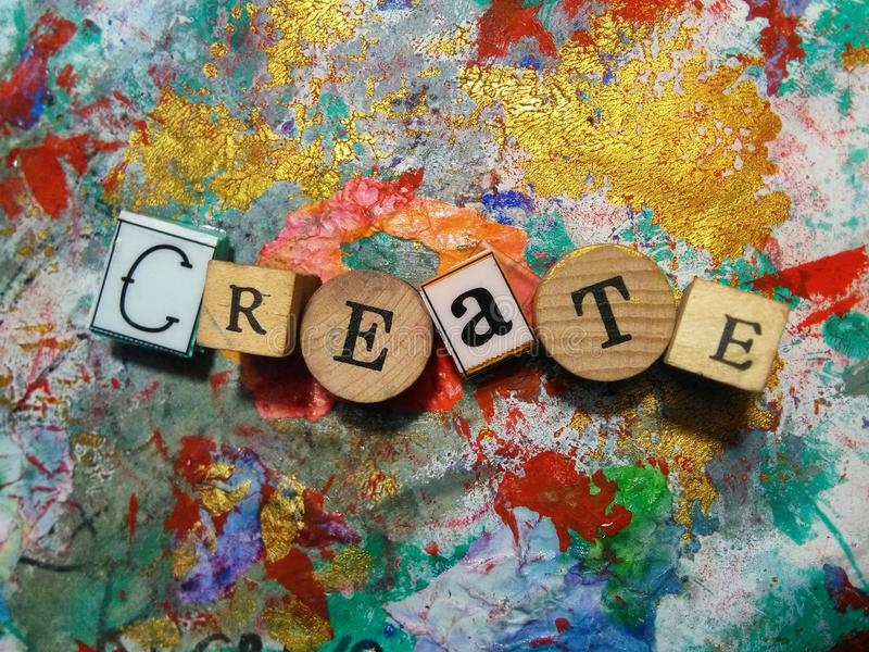 Créez ! photographie stock