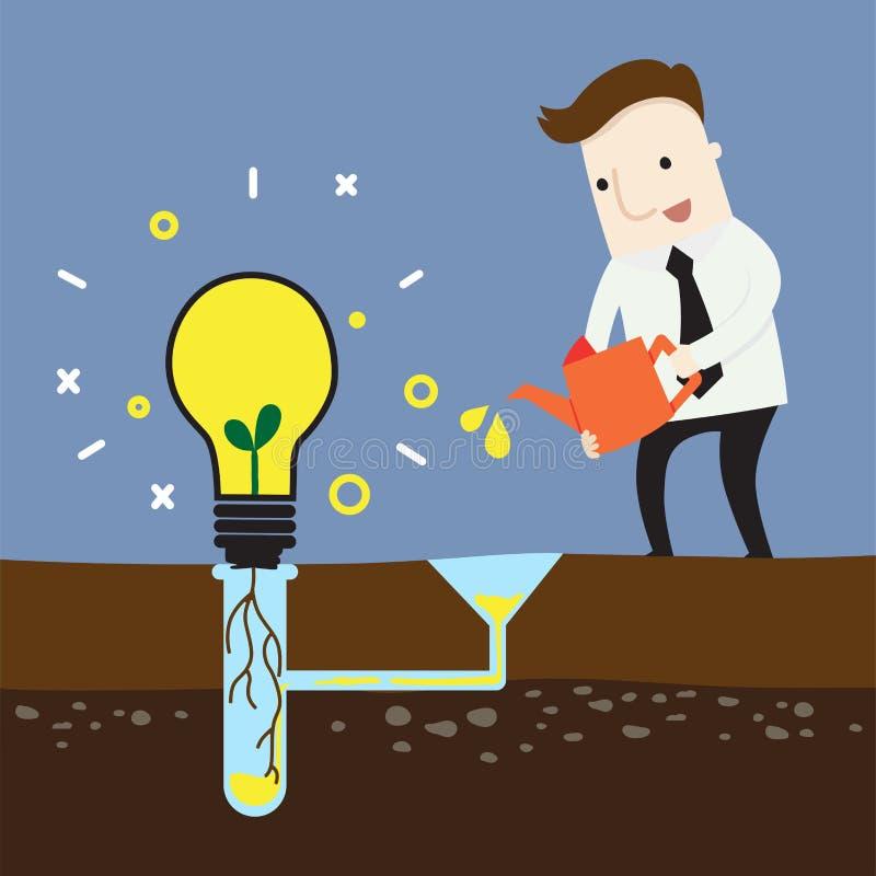 Créez la nouvelle idée pour des affaires illustration stock