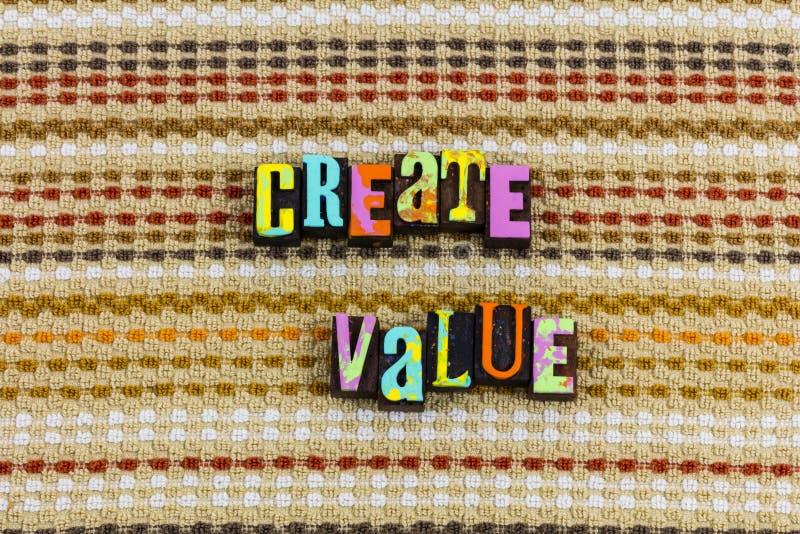 Créez la valeur photographie stock