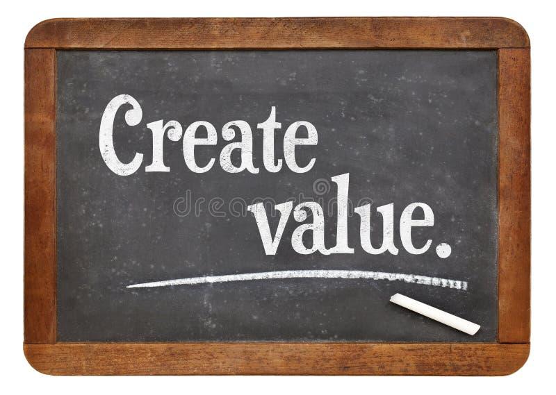Créez la valeur sur le tableau noir photo libre de droits