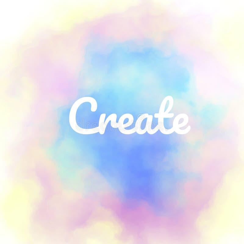 Créez le fond de motivation inspiré d'affiche illustration de vecteur