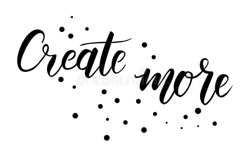 Créez un texte plus manuscrit illustration libre de droits