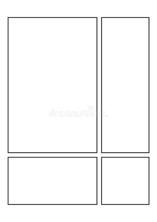Créez vos propres bandes dessinées photo libre de droits