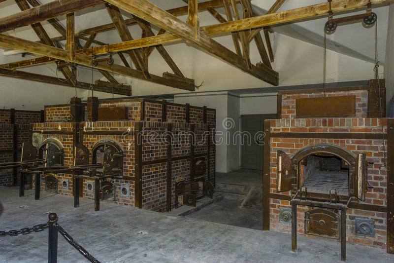 Crématorium de fours de camp de concentration de Dachau photographie stock libre de droits