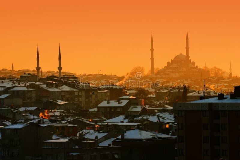 Crépuscule à Istanbul photo stock