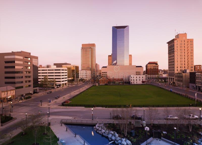 Crépuscule à Lexington image libre de droits