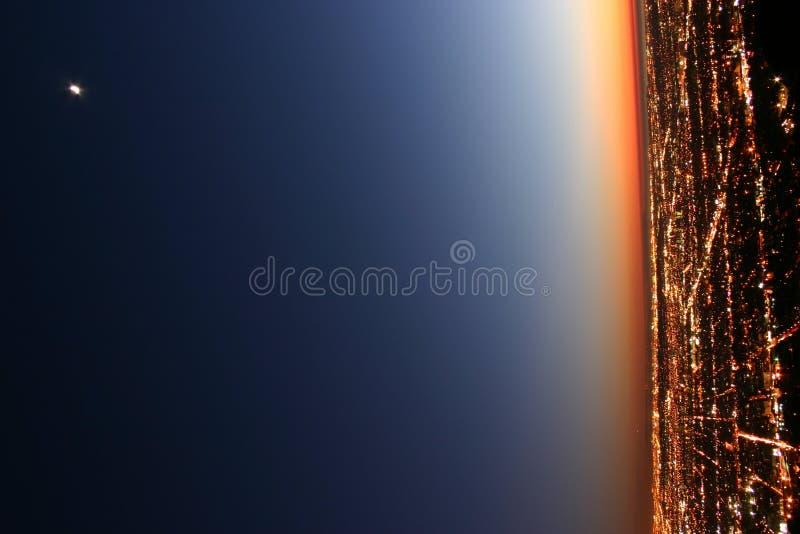 Crépuscule au-dessus de Los Angeles image stock