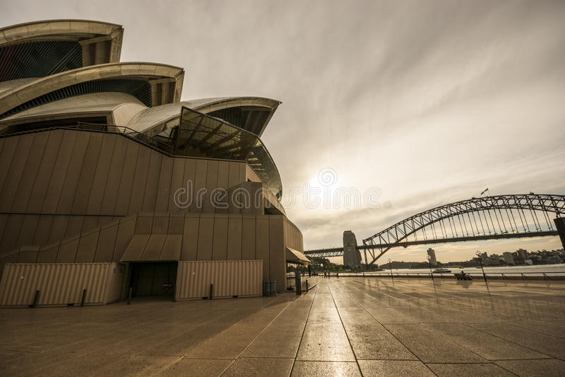 Crépuscule chez Sydney Opera House, Australie photo stock