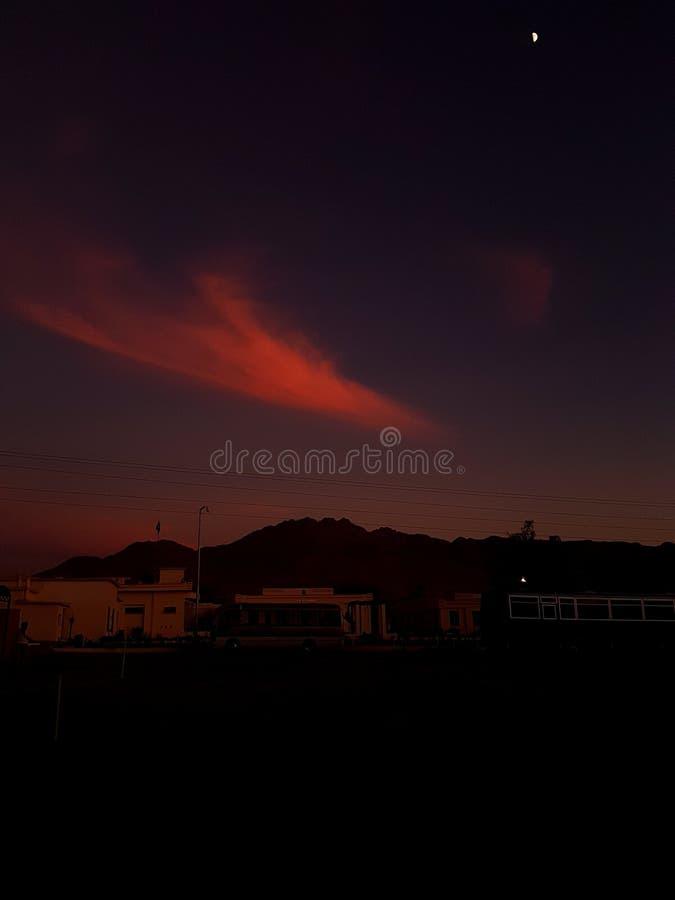 Crépuscule d'hivers à Quetta photos stock