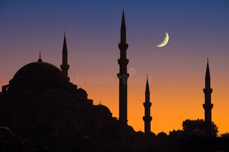 crépuscule d'Istanbul images libres de droits