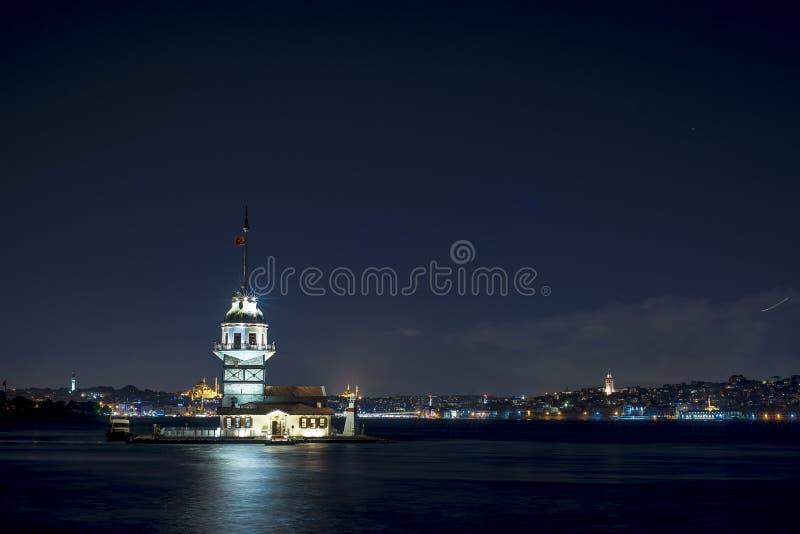 Crépuscule d'Istanbul photographie stock libre de droits