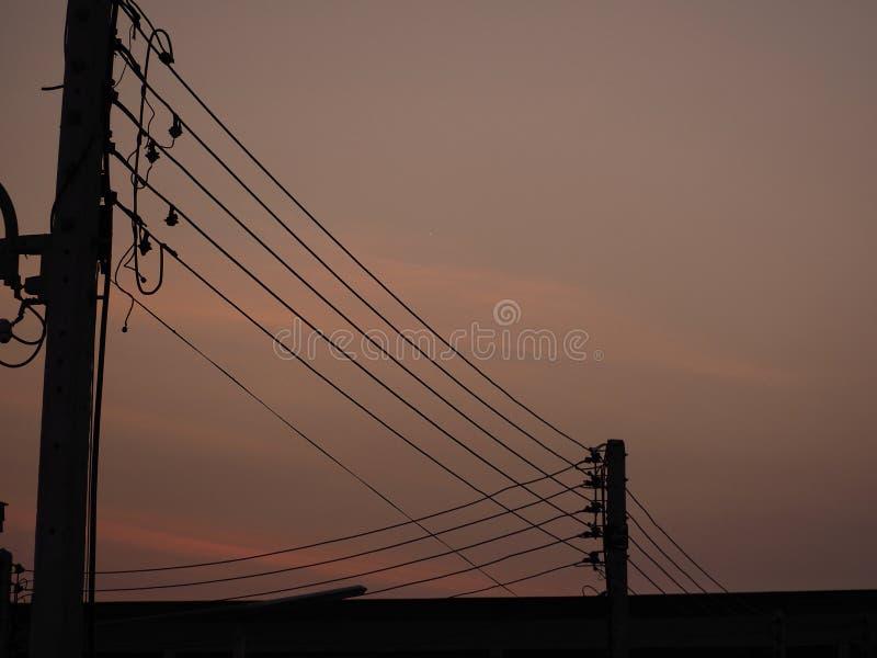 Crépuscule dans la ville image libre de droits