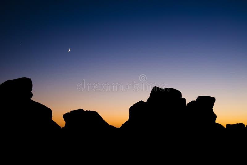 Crépuscule de Carmel image stock
