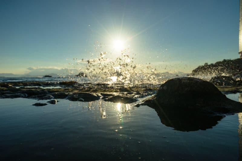 Crépuscule de ciel de mer du HK photographie stock libre de droits