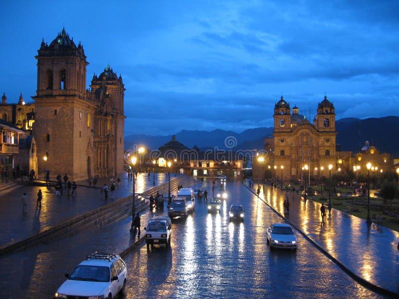 crépuscule de cuzco images libres de droits