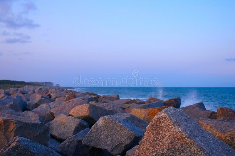 Crépuscule de plage image libre de droits