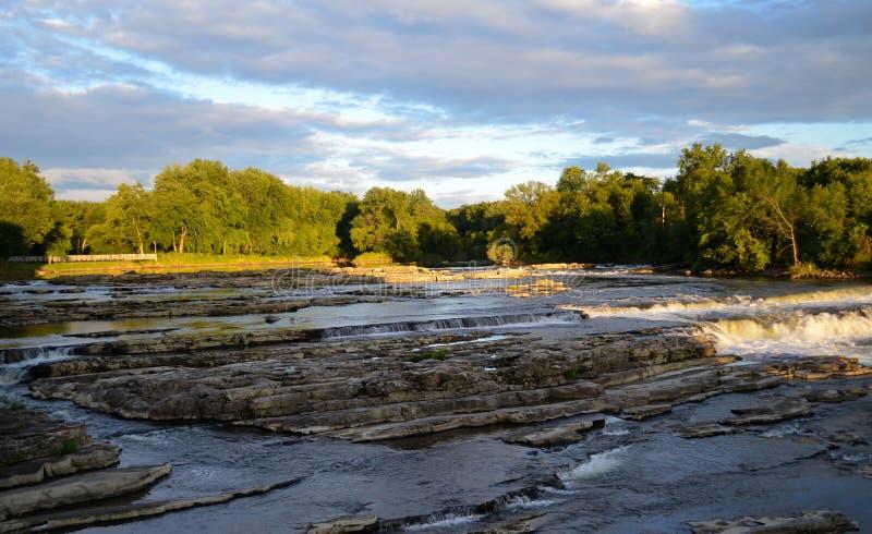 Crépuscule des automnes de Winooski photos libres de droits