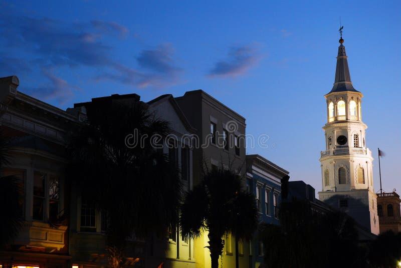 Crépuscule sur Charleston photos libres de droits