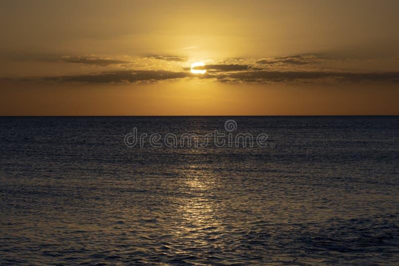 Crépuscule sur le Golfe du Mexique photo stock