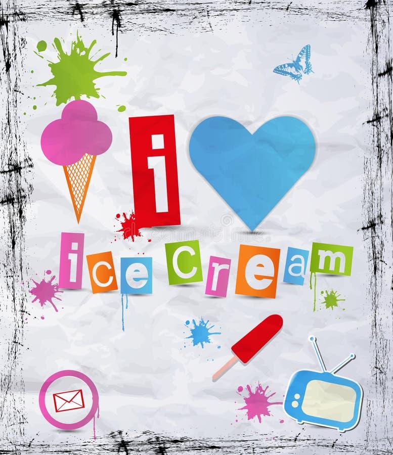 Crême glacée. illustration libre de droits
