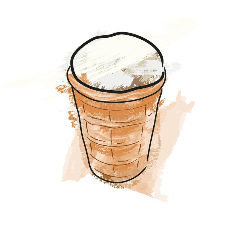 Crême glacée dans une glace crème illustration de vecteur