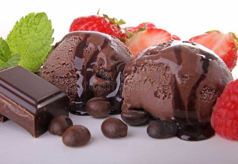 Crême glacée de chocolat photos stock
