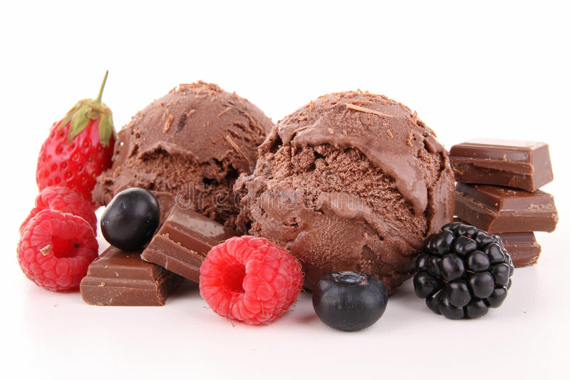 Crême glacée de chocolat image stock