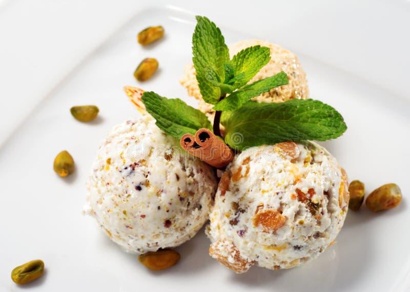 Crême glacée de pistache photo stock