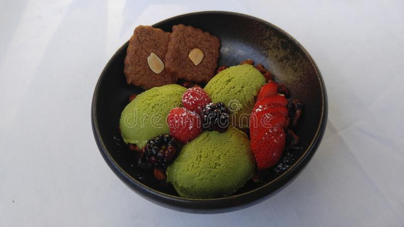 Crême glacée de thé vert image libre de droits