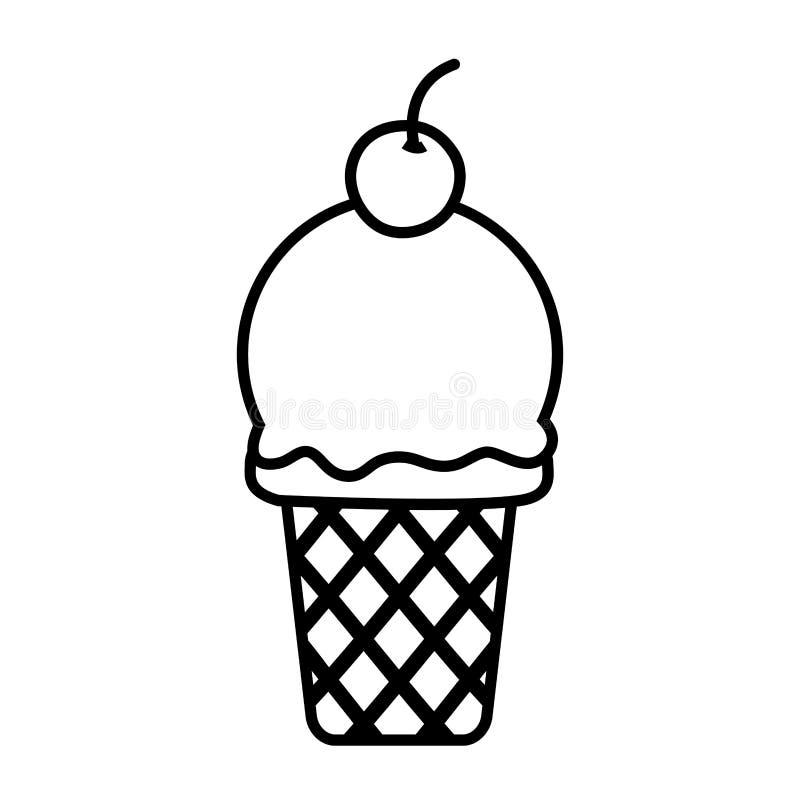 Crême glacée douce illustration stock