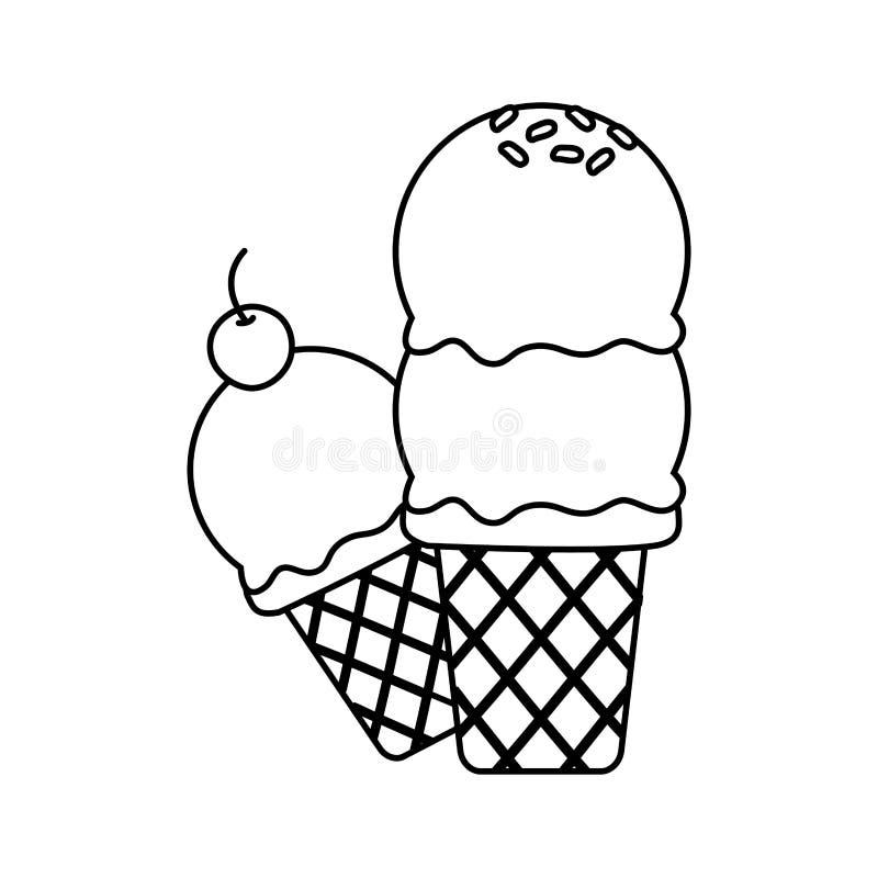 Crême glacée douce illustration de vecteur
