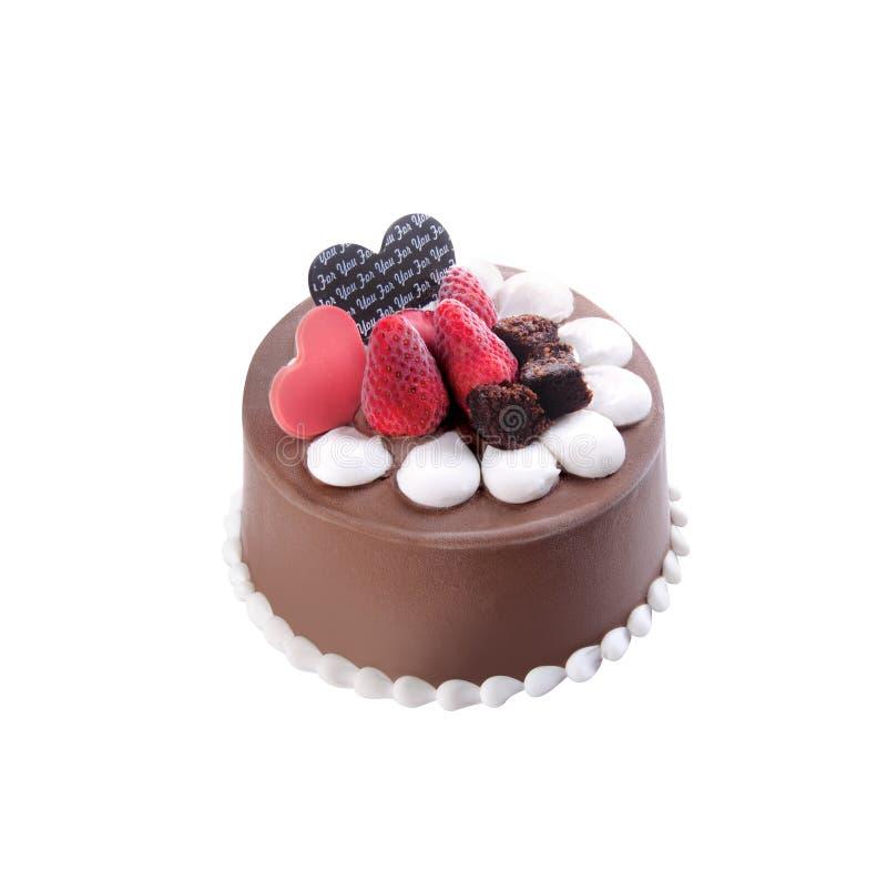 Crême glacée gâteau de crème glacée de chocolat photographie stock
